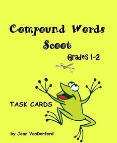 SCOOT!: Compound Words Scoot! {Core 1-2}   uses first and second grade vocabulary. The 28 Compound Words Scoot! TASK CARDS each present one-half of a compound word with four choices to complete the word as students Scoot!These compound words Scoot! cards build vocabulary, knowledge of compound words, and improve spelling and comprehension.With emphasis on core curriculum standards, our goal is to provide busy teachers with exercises to implement in a variety of ways.