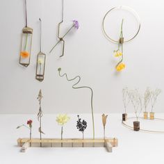 Sculptural vases with dried flowers by Nobu Miake from Kobe Design University