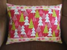 """Holiday Christmas Trees Retro Pillow Cover Decorative Pillow Throw Pillow Home Decor 12""""x16"""" Rectangle #etsy #forsale #holidaysyouandme #giftideas #giftsunder15 $10"""
