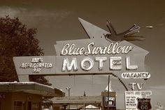 Route 66 - Blue Swallow Motel, Tucumcari, New Mexico.