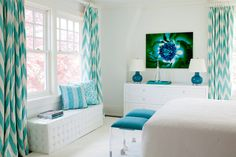 House of Turquoise, love the curtains!