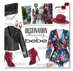 """""""Destination Runway with bebe : Contest Entry"""" by margaretferreira ❤ liked on Polyvore featuring Bebe, bebe, fallfashion and beiconic"""