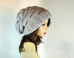Womens Slouchy Knit Hat by Puik on Etsy