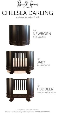 Oval/round cribs maximize space without sacrificing style.  This beautiful one comes in 3 gorgeous finishes.