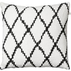 Ikat Kerela tyynynpäällinen M, valkoinen/musta ryhmässä Tekstiilit / Viltit & Koristetyynyt / Koristetyynyt @ ROOM21.fi (131446)