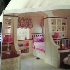 From Home by Design magazine Apr Mar 2012. Cute built-ins for girl room