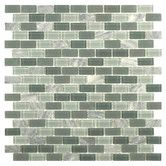 Found it at Wayfair - Ambit 11.25'' x 11.25'' Glass and Natural Stone Mosaic Tile in Fortress