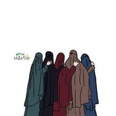 Me and my four friend , Cute Muslim Couples, Muslim Girls, Love Cartoon Couple, Girl Cartoon, Dc Superhero Girls Dolls, Muslim Photos, Hijab Drawing, Beautiful Quran Quotes, Islamic Cartoon