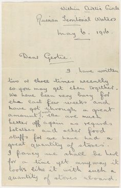 A letter from Teddy Ashton to his sister.
