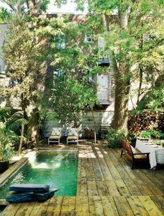 urban garden ideas city garden with pool