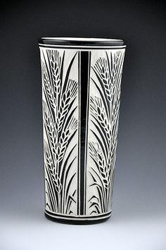 Katherine Hackl Pottery & Tiles Pottery: Sgraffito Pottery
