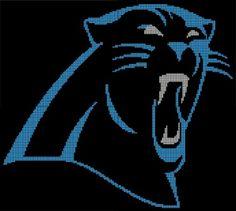 Carolina Panthers Crochet Pattern Afghan Graph, $3.50