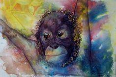 Watercolor monkey 2012