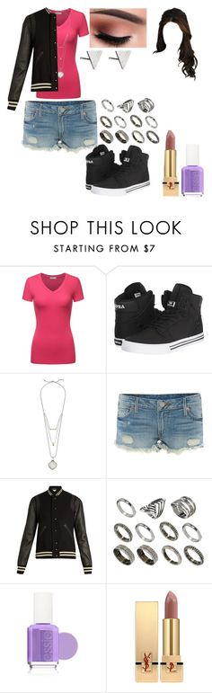 """Untitled #848"" by nerdynerdy on Polyvore featuring Supra, Lucky Brand, True Religion, Yves Saint Laurent, ASOS, Essie and Rachel Jackson"