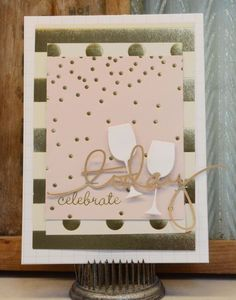 Hi everyone! Laurel here. I absolutely love the Fancy That collection. Baby pink is my favorite color and when paired with gray and gold... sigh... Now I don't have any weddings coming up so I challenged myself to create something with the collection that was not wedding related. I came...