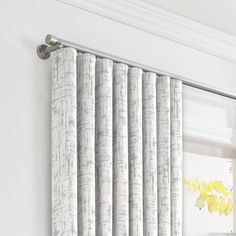 Loom Decor Ripplefold Drapery Etch A Sketch - Silver Living Room Blinds, Window Treatments Living Room, Curtains Living, Modern Curtains, Living Room Windows, Contemporary Curtains, Bedroom Drapes, Curtains Vs Blinds, Wave Curtains