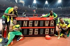 Jamaica 4x100m world record. Jamaica absolutely smashed it this year at the olympics!!