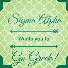 Go Greek with Sigma Alpha