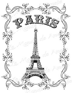 Image for Paris Invitation or Picture Frame