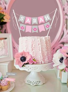 Bridal Shower Cake Bunting