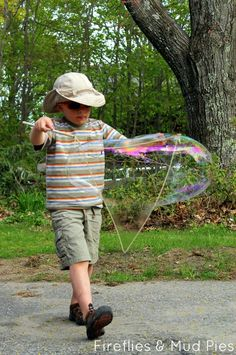 Build Monster Bubble Wands with simple materials! Tutorial here!