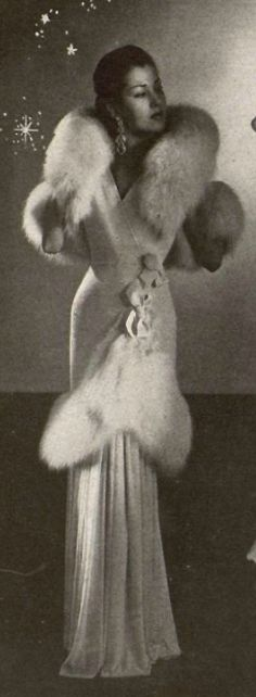 1947 Nina Ricci - Classy Elegance (not real animal skin maybe only for me, Elsie)   =))