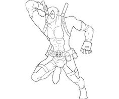 deadpool printable coloring pages - Enjoy Coloring