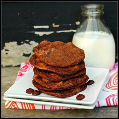 Chewy Chocolate Ginger-Molasses Cookies