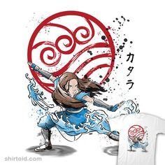 The Power of the Water Tribe | Shirtoid #anime #avatarthelastairbender #drmonekers #film #katara #movies #tvshow