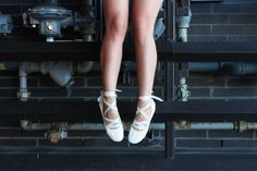 freeseries diy lace up ballet flats