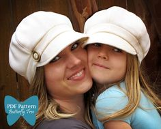 Newsboy Hat Sewing Pattern Combo  Reversible by ButterflyTree $10
