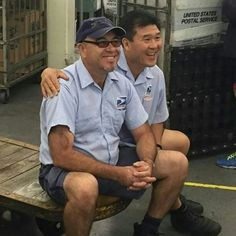 The dream team #MailCarrier #USPS #PostOffice #Mailman #Friends #Package #Mail