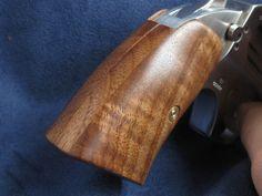Custom gun grips, Curly black walnut on a Bond Arms derringer By: the Uker of OZ