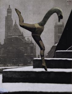 Karel Teige. Collage. 1940s.