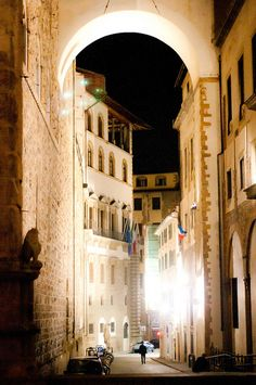 There is something haunting and beautiful about walking around Florence, Italy at night.