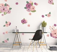Browse wall decals for baby rooms, nurseries, playrooms, toddler and children's rooms at Project Nursery. Our wall stickers for the nursery come in many styles. Flower Wall Decals, Vinyl Wall Decals, Wall Stickers, Life Space, Project Nursery, Nursery Ideas, Large Flowers, Lavender Flowers, Floral Wall