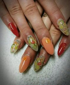 #Nails #fruit #red #spring #trends