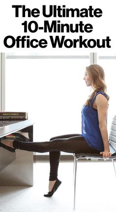 10 easy moves you can do at the office to stay fit #motivation