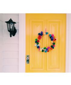 the wreath on my door (instructions on how to make it are on the blog)