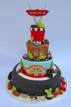 Okay, I have come to realize they are obsessed with Cars.  This cake makes me feel okay about a character party.  :) by malinda