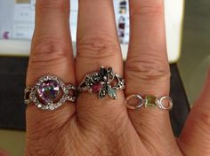 Mystic Topaz and White Topaz in Silver / Sapphire ruby and Emeralds in Silver / Peridot set in Silver - Candle Jewels