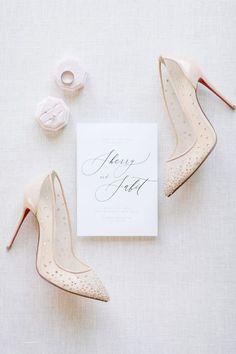 Wedding shoes ideas - beige, gold, heels, close toe, summer {Sherry Zhu}