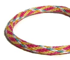NEW spring plaid kumihimo bracelet with by SweetEscapeBracelets, $7.49