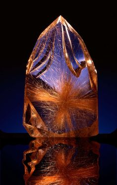 Starborn - Carved Madagascar Star Rutilated Quartz - Lawrence  Stoller, CrystalWorks