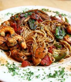Spicy Caribbean Shrimp with Pasta