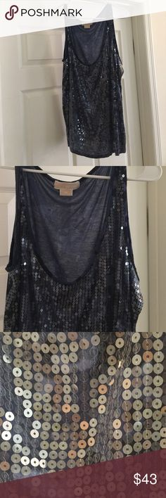 PLUS SIZE AUTH MICHAEL KORS SEQUIN TANK TOP Great Condition,casual or dress MICHAEL Michael Kors Tops Tank Tops