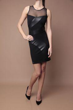 840a672130 Mayo Chix -Zoé- alkalmi ruha, elasztikus pamuthatású anyagból, karcsúsított  fazonnal, latex és tüll betéttel, szolid fém márkajelzéssel.70%  poliészter25% ...