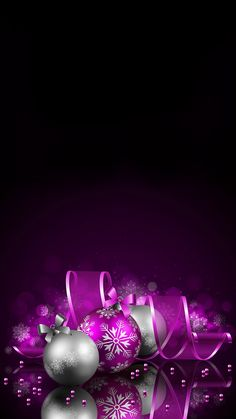 IPhone X Beautiful Wallpaper, Christmas Background (Part Purple Christmas, Christmas Art, Winter Christmas, Christmas Bulbs, Christmas Decorations, Holiday Decor, Holiday Iphone Wallpaper, Holiday Wallpaper, Winter Wallpaper