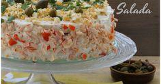 Que ganas tenía de hacer esta tarta salada, estaba esperando la ocasión , en cuanto tenga salmón la hago, al final ni salmón ni bacala... Krispie Treats, Rice Krispies, Sandwiches, Lasagna, Entrees, Potato Salad, Tapas, Seafood, Burritos