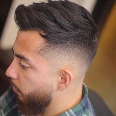 Saw this on @nicestbarbers Go check em Out Check Out @RogThaBarber100x for 57 Ways to Build a Strong Barber Clientele! #barbershopflow #worldbarbershops #barbera #DALLASBARBER #shesmybarber #traditionalbarber #barberforlife #PhillyBarber #AtlantaBarber #cprbarbers #dopebarbers #barbersinc #internationalbarber #BarberIncTV #barberchair #BarberSoul #floridabarber #Barberskills #activebarbers #barbersociety #barberindo #barbershop3 #Barberpole #Chicagobarber #barbercut #barbersworld… Fade Cut, Beard Fade, Haircut Styles, Men's Hair, Hair And Beard Styles, Male Fashion, Haircuts For Men, Hair Style, Cool Hairstyles